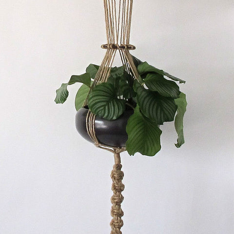 japanese macramé hanging planter | large