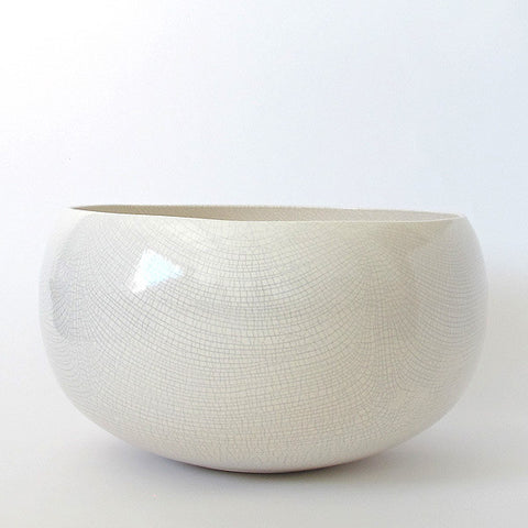 gidon bing large ceramic planter | crackled