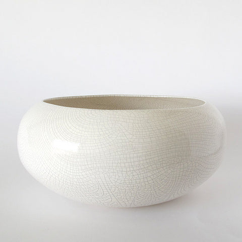 gidon bing medium ceramic planter | crackled