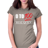 0 To 100 Real Quick Slogan Womens Fitted T-Shirt