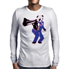 00-Panda taking aim with gun Mens Long Sleeve T-Shirt