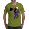 00-Panda taking aim with gun Mens T-Shirt