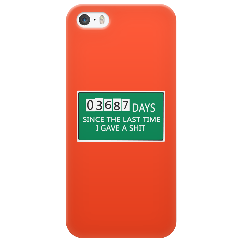 03687 days since the last time i gave a shit Funny Humor Geek Phone Case