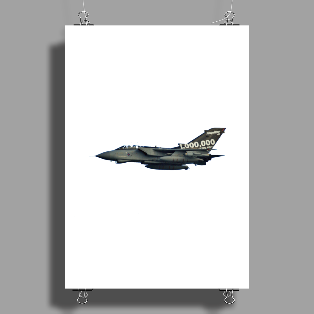1 Million Flying Hours Special Tail Paint Scheme RAF Tornado GR4 Role Demo Jet Poster Print (Portrait)