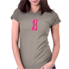 #1 Pink CAMO Womens Fitted T-Shirt