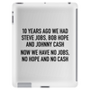 10 years ago we had steve jobs, bob hope and johnny cash (landscape, black) Tablet