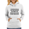 10 years ago we had steve jobs, bob hope and johnny cash (landscape, black) Womens Hoodie
