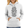 10 years ago we had steve jobs, bob hope and johnny cash (portrait, black) Womens Hoodie