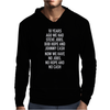 10 years ago we had steve jobs, bob hope and johnny cash (portrait, white) Mens Hoodie