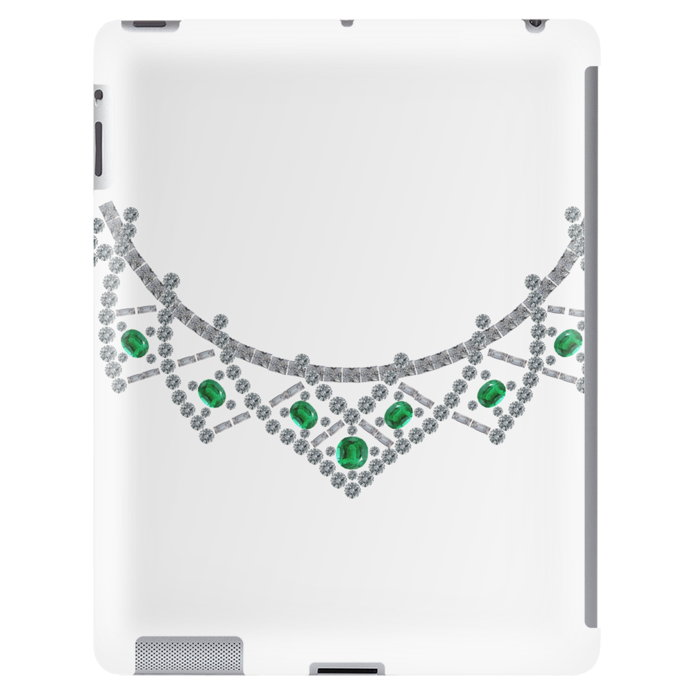 1950s emerald and diamond necklace Tablet