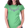 1950s Sapphire and Diamond Necklace Womens Fitted T-Shirt