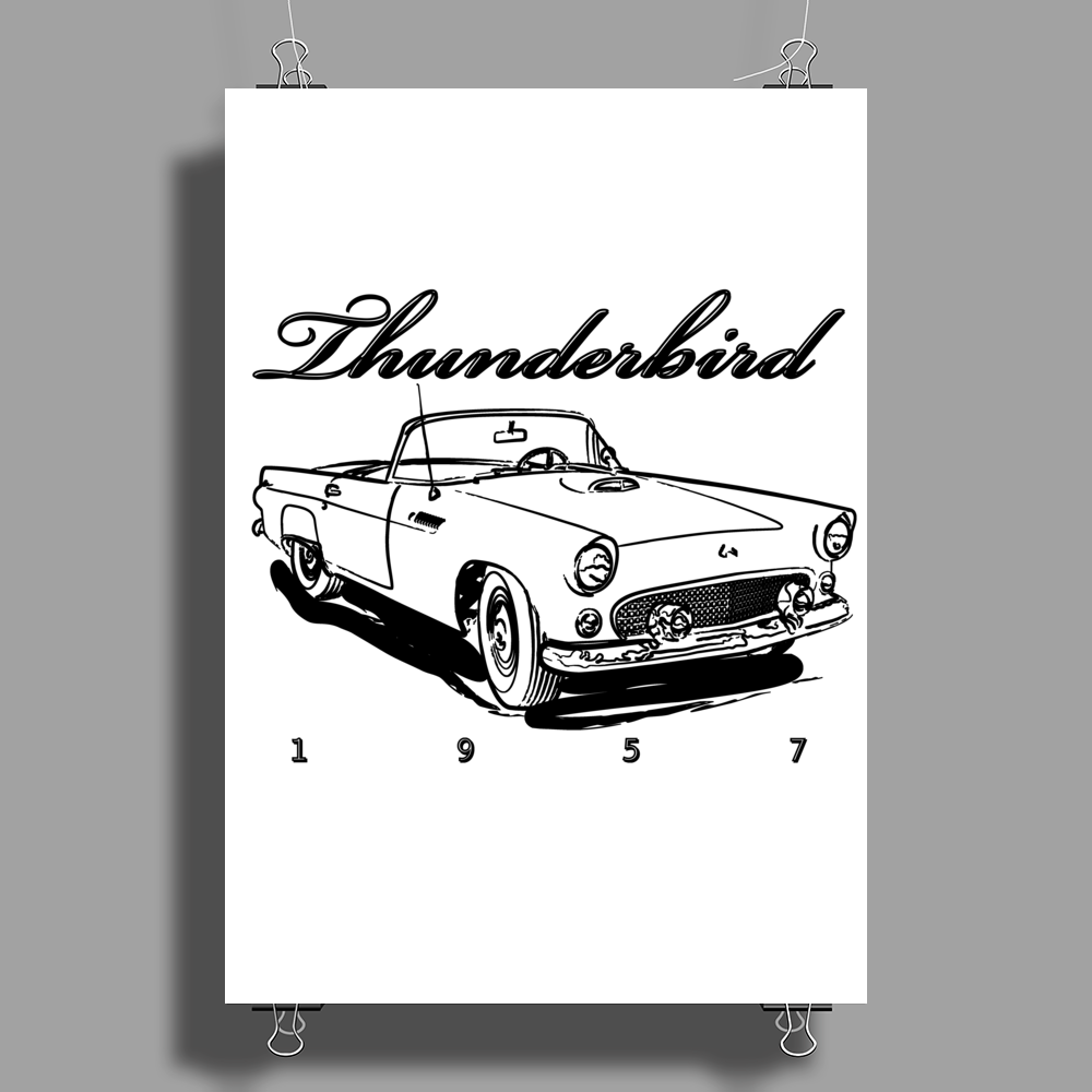 1957 Ford Thunderbird Poster Print (Portrait)