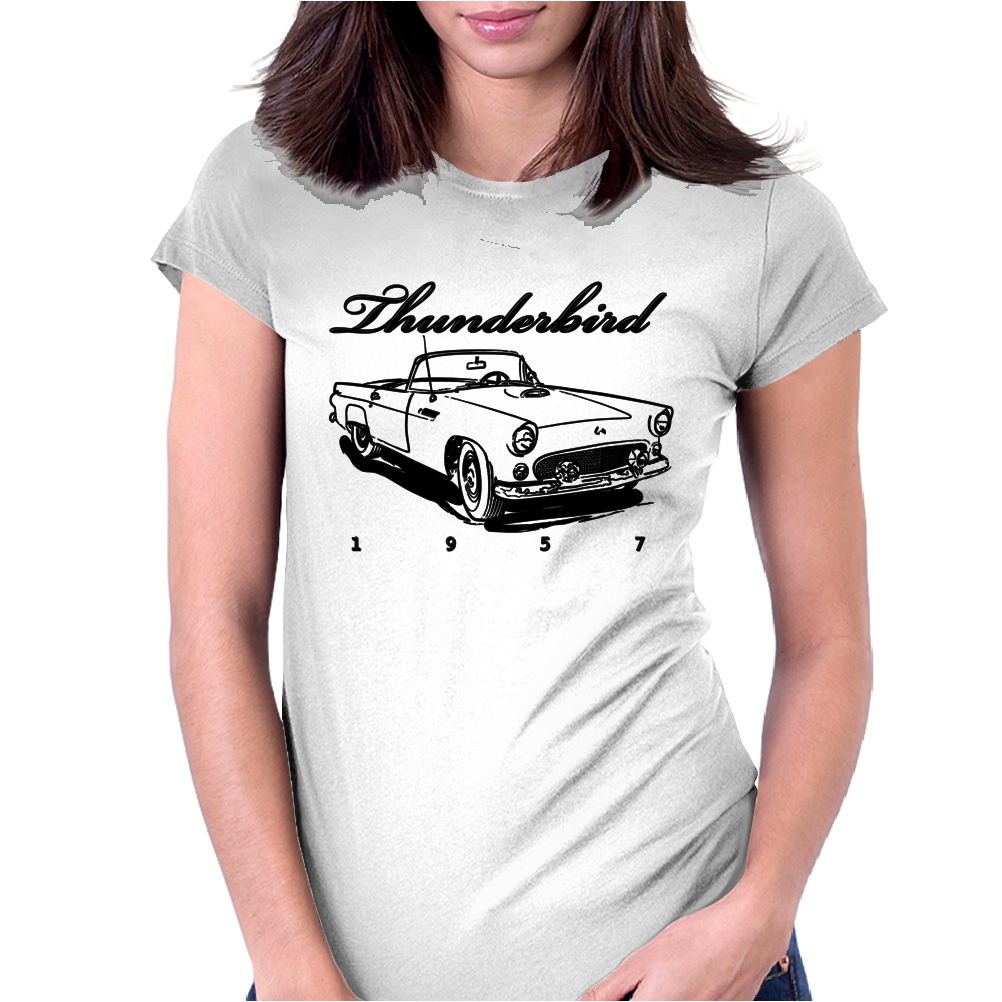1957 Ford Thunderbird Womens Fitted T-Shirt