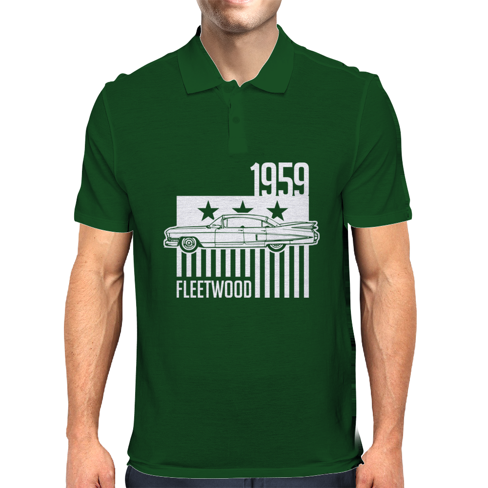1959 Cadillac Sixty Special Fleetwood illustration Mens Polo