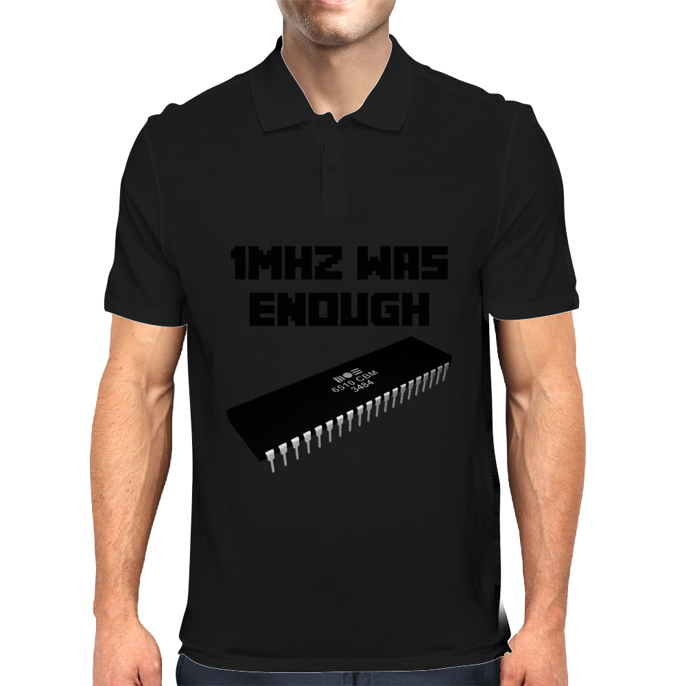 1MHZ WAS ENOUGH (Processor from the Commodore 64) Mens Polo