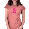#2 Pink CAMO Womens Fitted T-Shirt