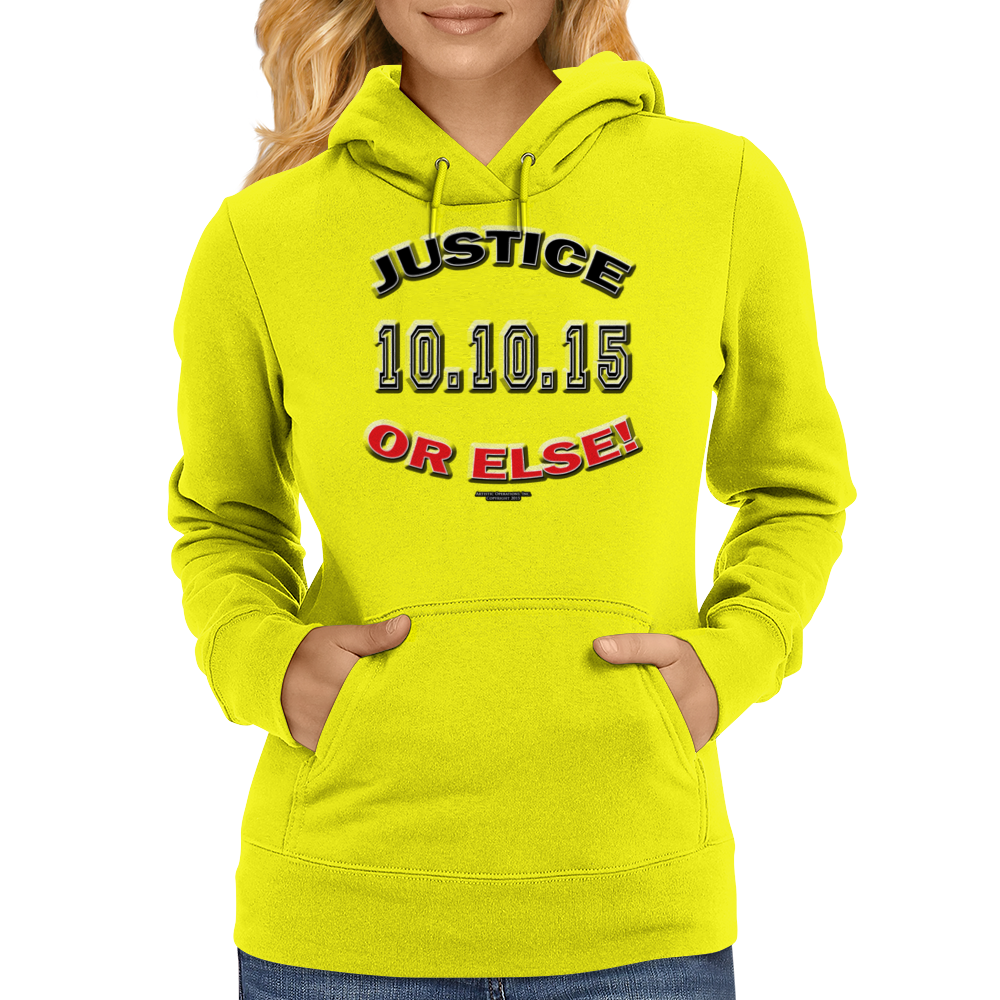 "20TH Anniversary of the Million Man March ""JUSTICE OR ELSE"" Womens Hoodie"
