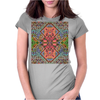 3-D Mosaic Patttern Womens Fitted T-Shirt