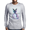 3D catman, Hipster cat style Mens Long Sleeve T-Shirt
