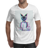 3D catman, Hipster cat style Mens T-Shirt
