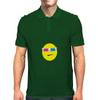 3D Glasses Smiley Mens Polo