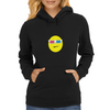 3D Glasses Smiley Womens Hoodie