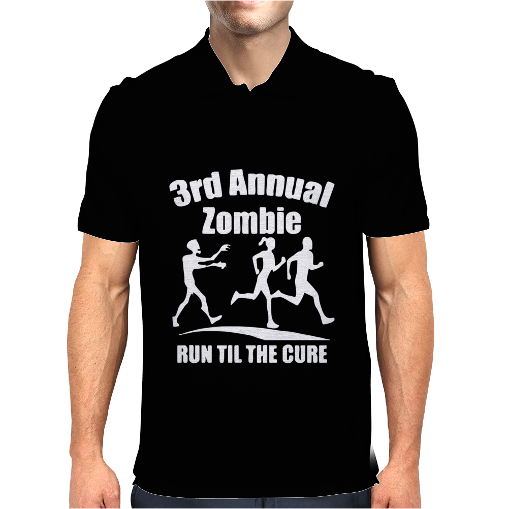 3rd Annual Zombie Run Til The Cure Mens Polo