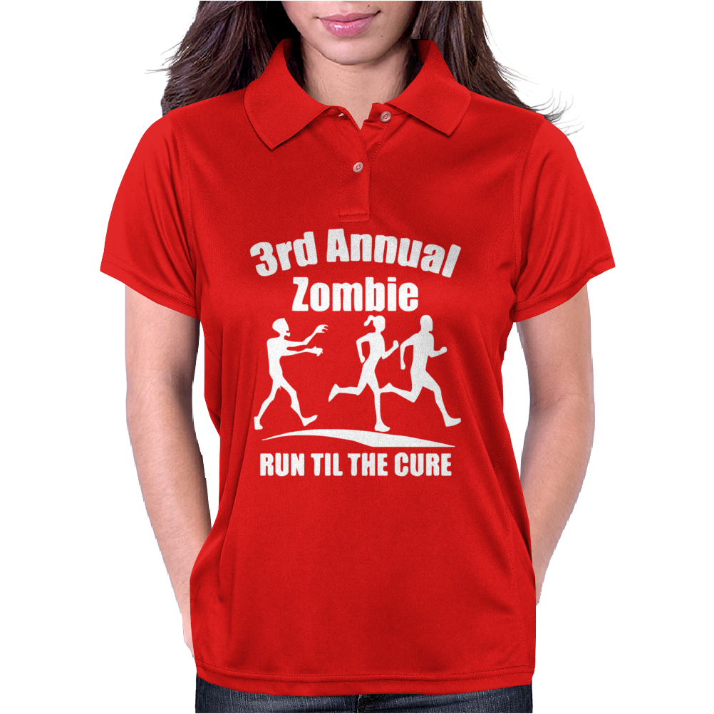 3rd Annual Zombie Run Til The Cure Womens Polo