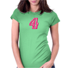 #4 Pink CAMO Womens Fitted T-Shirt