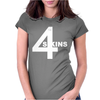 4 Skins Oi Punk Womens Fitted T-Shirt