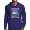 40th Birthday T-Shirt Personalise with Name Age Year Ideal Birthday Gift Mens Hoodie