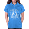 40th Birthday T-Shirt Personalise with Name Age Year Ideal Birthday Gift Womens Polo