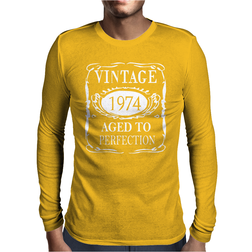 40th Birthday Vintage 1974 Mens Long Sleeve T-Shirt