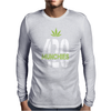 420 Munchies Weed leaf Mens Long Sleeve T-Shirt