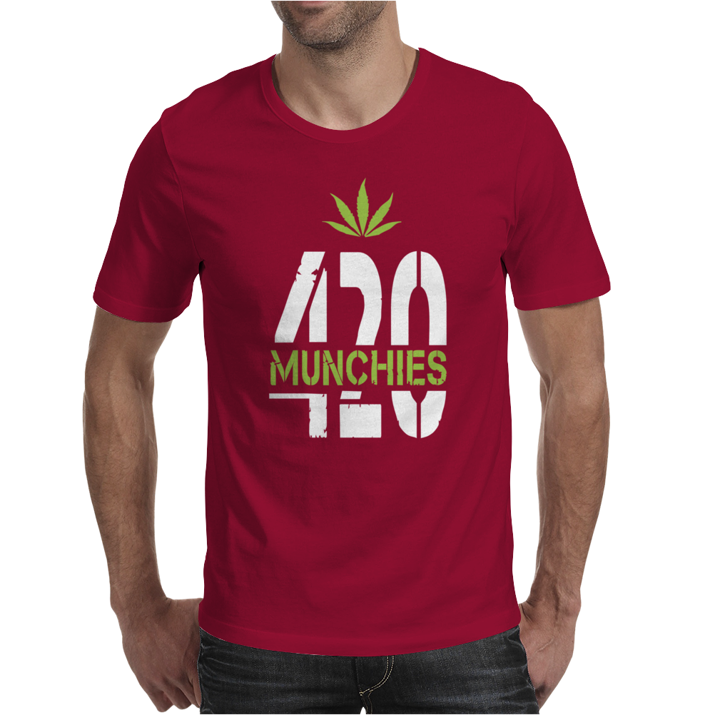 420 Munchies Weed leaf Mens T-Shirt