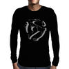 45 rpm Record Adaptor Shadow Mens Long Sleeve T-Shirt