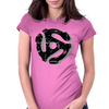 45 rpm Record Adaptor Shadow Womens Fitted T-Shirt