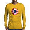4th July American Flag Circle Mens Long Sleeve T-Shirt