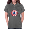 4th July American Flag Circle Womens Polo