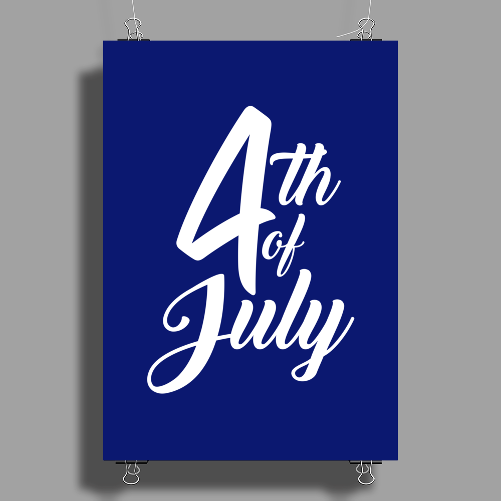 4th July Independence Day Poster Print (Portrait)