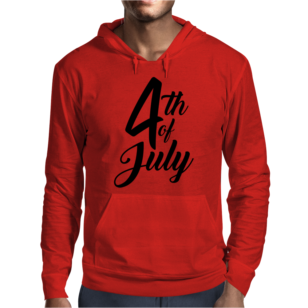 4th of July Celebrate America Mens Hoodie