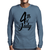 4th of July Celebrate America Mens Long Sleeve T-Shirt
