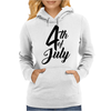 4th of July Celebrate America Womens Hoodie