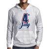 4th of July USA Big 4 Independence Day Mens Hoodie