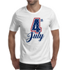 4th of July USA Big 4 Independence Day Mens T-Shirt