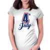 4th of July USA Big 4 Independence Day Womens Fitted T-Shirt
