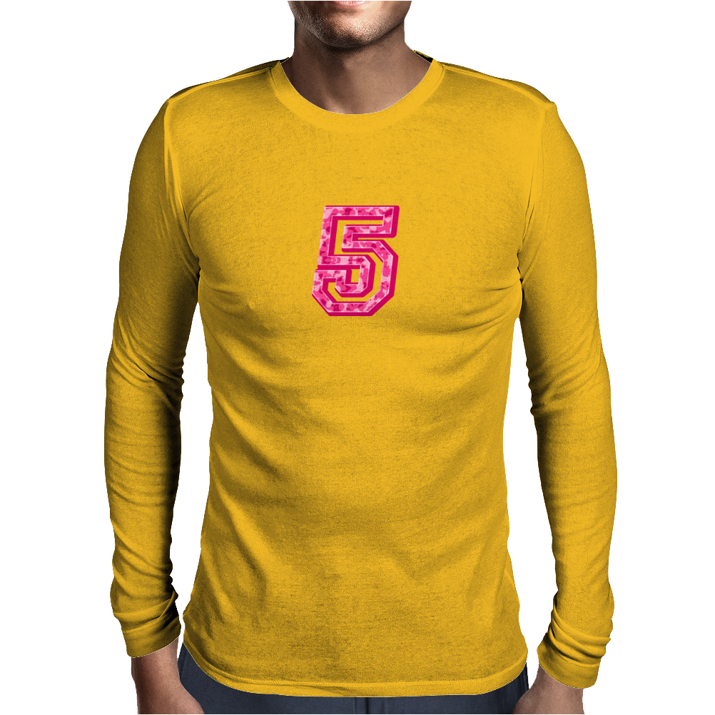 #5 Pink CAMO Mens Long Sleeve T-Shirt