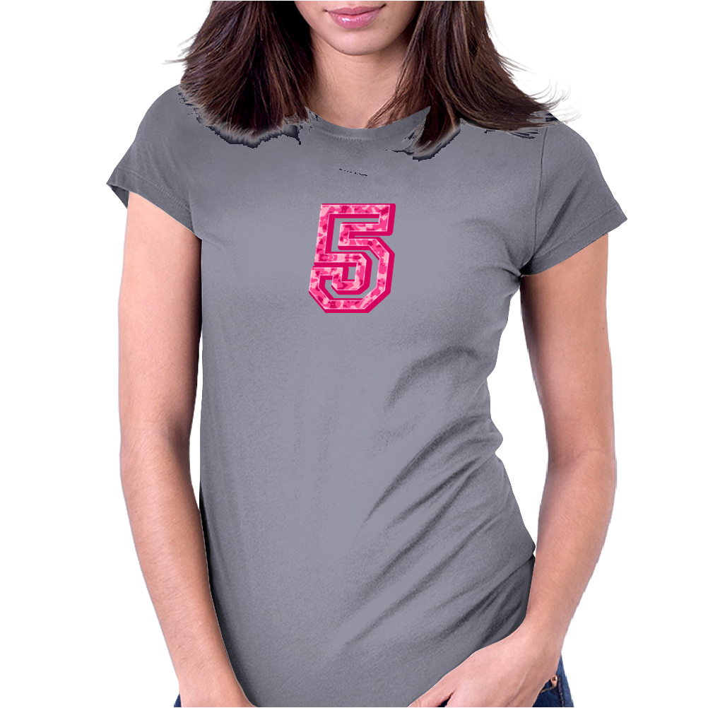 #5 Pink CAMO Womens Fitted T-Shirt