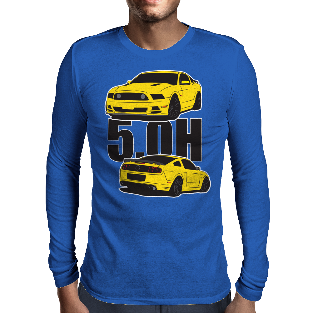 5.Oh Stang Mens Long Sleeve T-Shirt