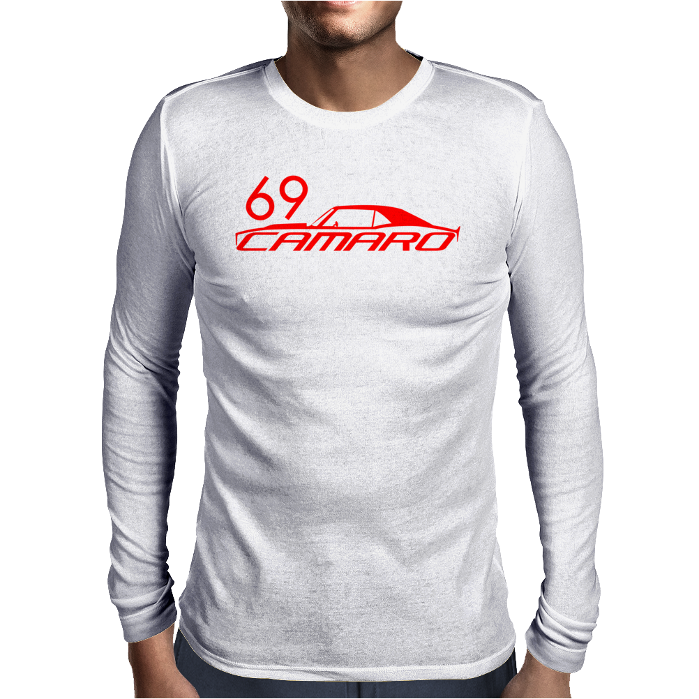 69 Orange Camaro 1969Muscle Car T-Shirt Mens Long Sleeve T-Shirt
